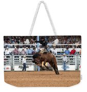 American Cowboy Riding Bucking Rodeo Bronc I Weekender Tote Bag