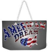 American Dream Digital Typography Artwork Weekender Tote Bag
