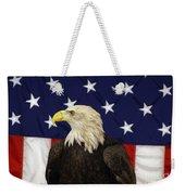 American Eagle And Flag Weekender Tote Bag