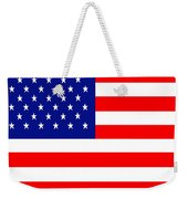 American Flag . Square Weekender Tote Bag