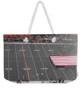 American Flag At Paul Brown Stadium Weekender Tote Bag by Dan Sproul