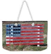 American Flag Country Style Weekender Tote Bag