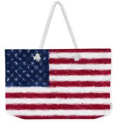 American Flag Embossed Weekender Tote Bag