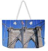American Flag Flying Over Brooklyn Weekender Tote Bag