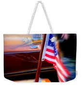 American Flag Focus Weekender Tote Bag