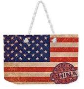 American Flag Made In China Weekender Tote Bag
