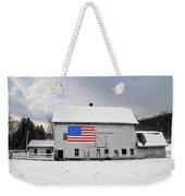 American Flag On A Pennsylvania Barn Weekender Tote Bag