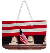 American Flag On The Front Weekender Tote Bag