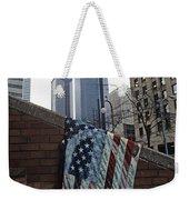 American Flag Tattered Weekender Tote Bag