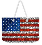 American Flag - Usa Stone Rock'd Art United States Of America Weekender Tote Bag