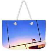 American Football Goal Posts Weekender Tote Bag