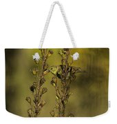 American Goldfinch Eating Seeds Weekender Tote Bag