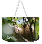 American Goldfinch Nest Under Construction Weekender Tote Bag