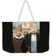 American Gothic Cat Weekender Tote Bag