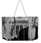 American Gothic In Black And White 1 Weekender Tote Bag