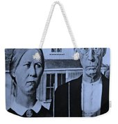 American Gothic In Cyan Weekender Tote Bag