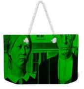 American Gothic In Green Weekender Tote Bag