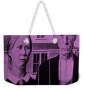 American Gothic In Pink Weekender Tote Bag