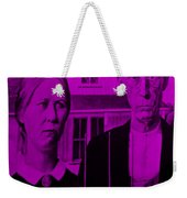 American Gothic In Purple Weekender Tote Bag