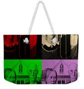 American Gothic In Quad Colors Weekender Tote Bag