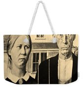 American Gothic In Sepia Weekender Tote Bag
