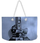 American Guitar In Cyan Weekender Tote Bag