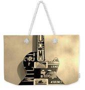 American Guitar In Sepia Weekender Tote Bag