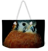 American Kestrel Digital Art Weekender Tote Bag