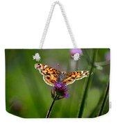 American Lady Butterfly In Garden Weekender Tote Bag