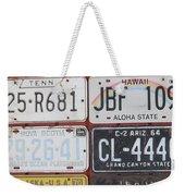 American License Plates Weekender Tote Bag