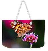 American Painted Lady Butterfly Pink Weekender Tote Bag