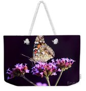 American Painted Lady Butterfly Purple Background Weekender Tote Bag