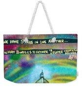American Rainbow Weekender Tote Bag
