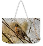 American Robin On A Branch Weekender Tote Bag