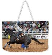 American Rodeo Female Barrel Racer Dark Horse II Weekender Tote Bag