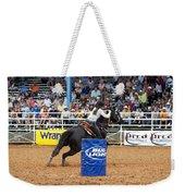 American Rodeo Female Barrel Racer Dark Horse Iv Weekender Tote Bag