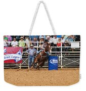 American Rodeo Female Barrel Racer White Blaze Chestnut Horse Iv Weekender Tote Bag by Sally Rockefeller