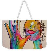 American Sign Language . . .  Mother Weekender Tote Bag