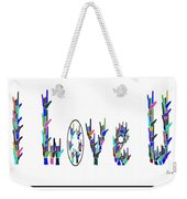 American Sign Language I Love You On White Weekender Tote Bag