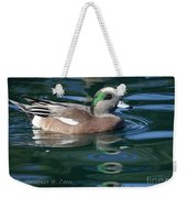 American Widgeon Duck Weekender Tote Bag