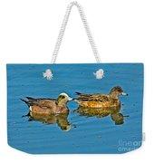 American Wigeon Pair Swimming Weekender Tote Bag