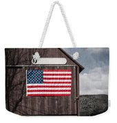Americana Patriotic Barn Weekender Tote Bag by Edward Fielding