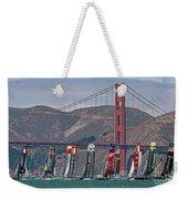 Americas Cup Catamarans At The Golden Gate Weekender Tote Bag