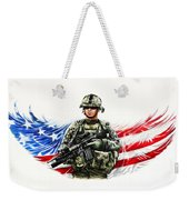 Americas Guardian Angel Weekender Tote Bag
