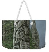 Amid The Mist - Totems Weekender Tote Bag by Elaine Booth-Kallweit