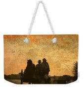 Amish After A Hard Days Work Weekender Tote Bag