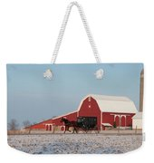 Amish Buggy And Red Barn Weekender Tote Bag