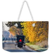 Amish Buggy And Yellow Leaves Weekender Tote Bag