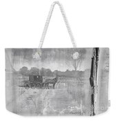 Amish Buggy In Old Book Weekender Tote Bag