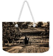 Amish Buggy On A Country Road Weekender Tote Bag